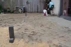 Aanleg bestrating van keramische tegels in Almere